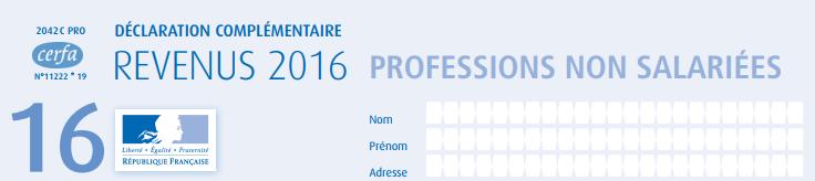 formulaire 2042 C Pro